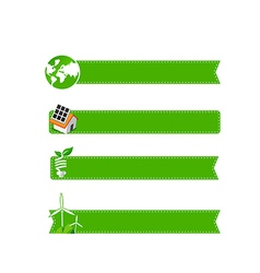 Eco icon ad tag ribbon banner eps10 vector