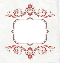 Elegant Vintage invitation card or banner vector