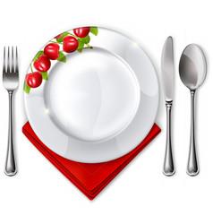 Empty plate vector image