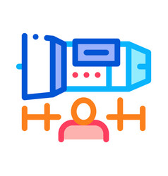 engineer engine icon outline vector image