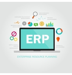 Erp enterprise reource planning vector