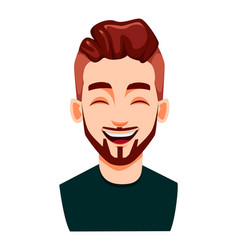Face expression stylish modern young man vector