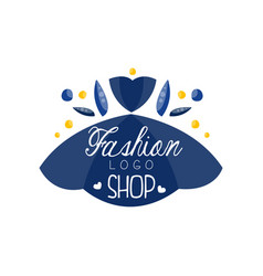 Fashion shop logo design clothes boutique beauty vector