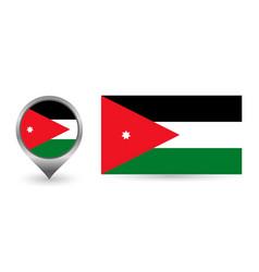 Flag jordan location point with flag vector