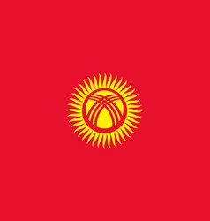 Flag of kyrgyzstan official colors and proportions vector
