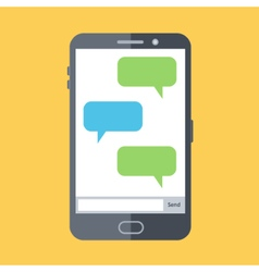 Flat design of mobile chat vector
