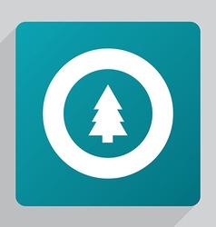 Flat fir-tree icon vector