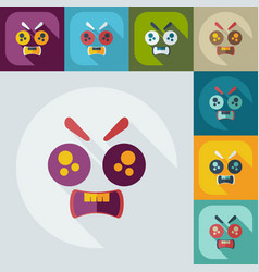 Flat modern design with shadow icons evil smiley vector