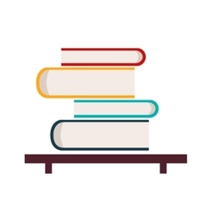 Flat with shadow icon and mobile application book vector