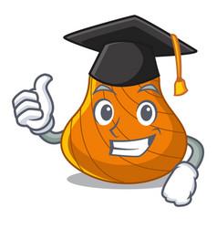 Graduation hard shell character cartoon vector