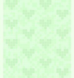 green square pattern with hearts seamless vector image