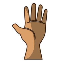 Hand with palm open vector