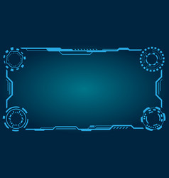 Hud futuristic frame abstract technology panel vector