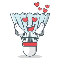 In love shuttlecock character cartoon vector
