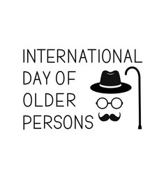 International day older persons banner with vector
