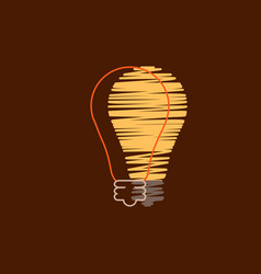 light bulb shape as inspiration concept flat vector image
