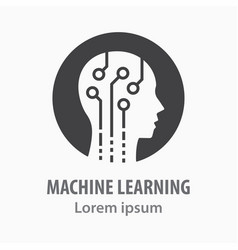 Machine learning icon symbol vector