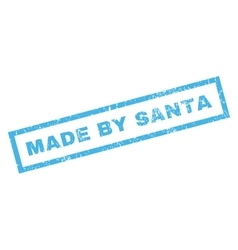 Made by santa rubber stamp vector