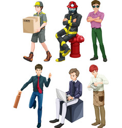 Men with different professions vector