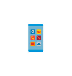 mobile apps icon flat element vector image