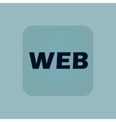 Pale blue WEB icon vector