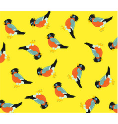 Pattern from birds vector