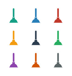 Plunger icon white background vector
