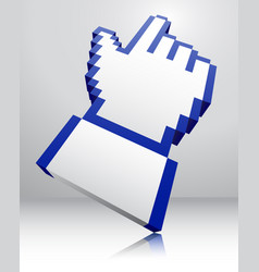 pointer icon 3d vector image