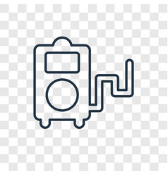 portable music player concept linear icon vector image