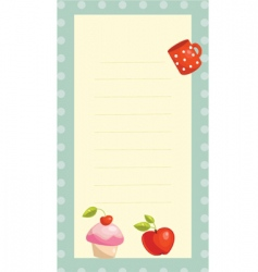 Recipe card vector