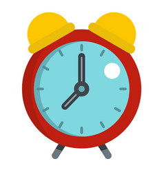 Red alarm clock icon isolated vector