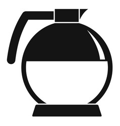 round coffee glass icon simple style vector image