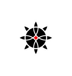 sacred flower celtic like tribal style linear vector image