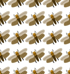 Seamless pattern wax moth vector