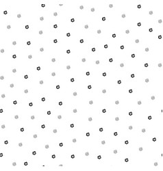 seamless pattern with little cartoon white vector image