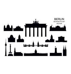 set berlin landmarks vector image