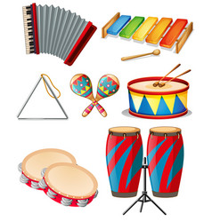 Set of music instrument vector