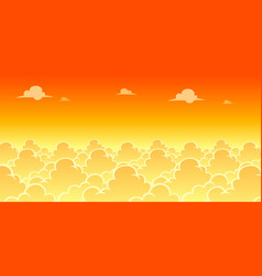 Sky evening game background vector