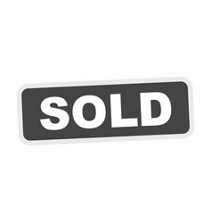 Sold grey stamp flat icon vector