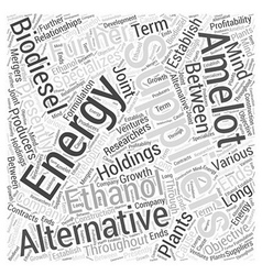 Some Suppliers of Alternative Energy Word Cloud vector