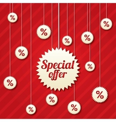 Special offer poster with percent discount vector image
