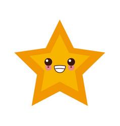 star shape symbol cute kawaii cartoon vector image