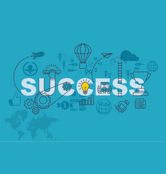 success banner background design concept vector image