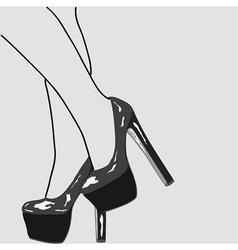 The legs of women vector