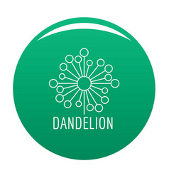 Torn dandelion logo icon green vector