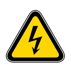 Triangular warning hazard symbol vector