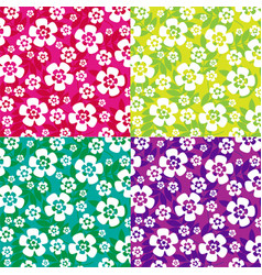 Tropical flowers patterns vector