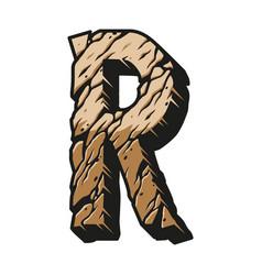 Vintage alphabet letter r colorful concept vector