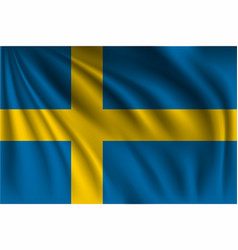 Waving sweden vector
