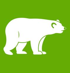 Wild bear icon green vector